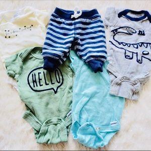 BABY BOY ONESIES AND PANTS SET